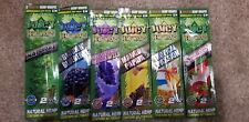 Juicy Jay Hemp Wraps~12 Wraps Total~6 Different Flavors~SALE (Free Torpedo tube)