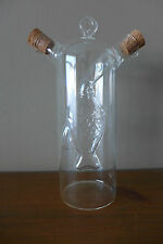 Glass bottle hand made, fish inside.