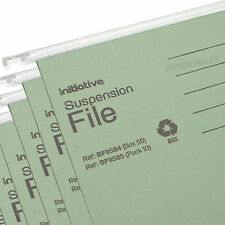 10 x Green A4 Hanging Suspension Files Tabs Inserts Filing Cabinet Folders Set