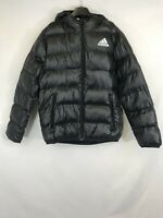 Adidas unisex puffer jacket hooded with pockets black 11-12Y 003