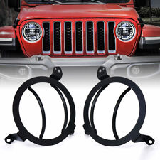 Xprite Steel Front Headlight Guards Cover Trim for 2018-2020 Jeep Wrangler JL JT