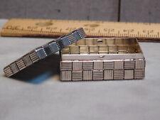 Tiffany &Co. Woven Sterling silver pill box/miniature box