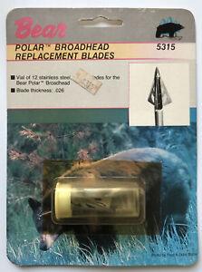NOS Vintage Fred Bear Archery Polar Broadhead Blades Traditional & Recurve Bow