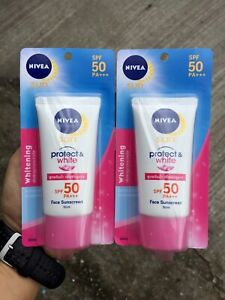 2 x NIVEA Face SUN Block Whitening Cream SPF 50 PA ++ 50 g.