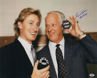 Gordie Howe signed autographed 16x20 photo! Gretzky! RARE! PSA Authenticated!
