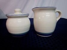 "Pfaltzgraff Creamer and Covered Sugar Bowl. ""Northwinds"". 1992-99. Perfect."