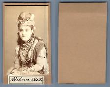 Adelina Patti, Cantatrice CDV, Vintage albumen  Carte de VisiteAdela-Juana-Mar