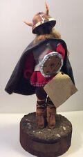 Ooak Handmade Original Minnesota Heritage Doll Figure Viking Folk Art