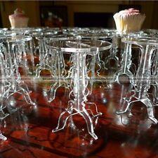 Set of 5 Crystal Acrylic Round Cupcake Stand Wedding Birthday Display Cake Small