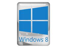 """Windows 8"" 1""x0.75"" Chrome Domed Case Badge / Sticker Logo"