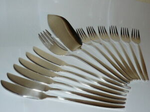 14 tlg. Fischbesteck Bruckmann Nr. 772 Elegance 90 Silber mit Fischvorleger