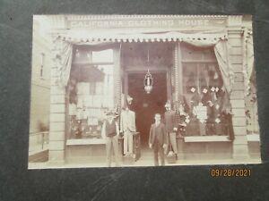 ca.1900 ? CALIFORNIA CLOTHING HOUSE 2 MEN & 2  MANNEQUINS - NEAT LOOK CLOSE