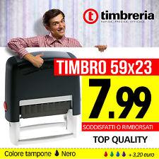 TIMBRI AUTOINCHIOSTRANTI - TIMBRO AUTOMATICO 59X23 - INS. LOGO GRATIS