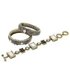 """Heidi Daus """"Conscious Coupling"""" 3-piece Crystal-Accented Bracelet Set HSN $300"""