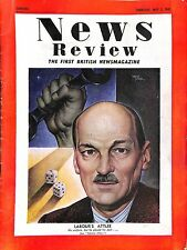 Original Vintage News Review British Newsmagazine May 1945 Labour's Attlee