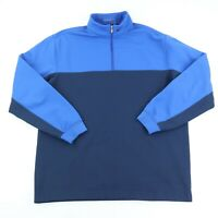 Nike Golf Therma-Fit 1/4 Zip Sweater Men's Size Large Blue Colorblock