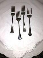 Oneida MAESTRO ST. LEGER Aberdeen Set 4 Salad Forks Stainless Flatware