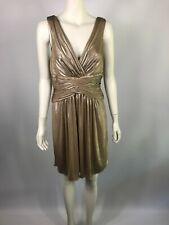 NEW BCBG MAXAZRIA size M (10-12) gold gorgeous cocktail dress RRP $490