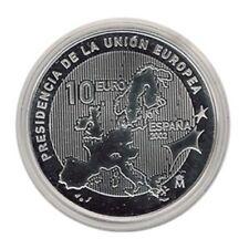 ESPAÑA SPAIN PRESIDENCIA UNION EUROPEA 2002 10 EUROS PLATA PROOF