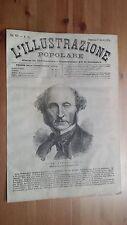1873 Illustrazione Popolare: Ritratto John Stuart Mill Filosofo Utilitarismo