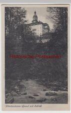 (112376) AK Prince Steiner ground with Castle, W? wóz KSI?, Zamek KSI?, before 1945