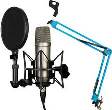 Rode NT1-A Set Kondensator Mikrofon + KEEPDRUM NB35BL Blau Gelenkarm Stativ
