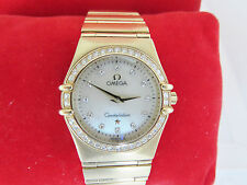OMEGA Ladies Constellation 18ct Gold with Diamonds and Mother of pearl face