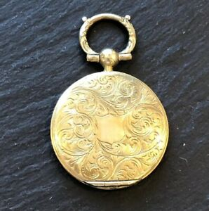 Antique Victorian Gold Back and Front Ornate Locket