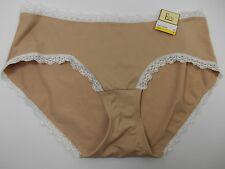 Felina Beige White Lace Trim Hipster Panty, Size M MSRP $18 #F5245P