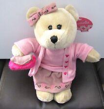 Starbucks  Coffee Co. Bearista Plush Bear- Valentine Girl- purse hearts  2007