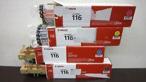 4PK Genuine Canon 116 BK C Y M Toner imageCLASS MF8050Cn NEW Open Box