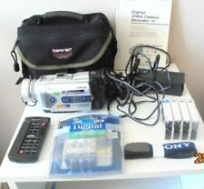 SONY Mini Digital Video Camera Recorder 120 x Carl Zeiss /Case/Extras/Manual
