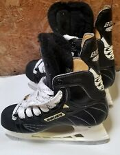 Bauer Supreme 6000 Skates TUUK Power Fit Thermal Black Boys Youth Sz 4 D