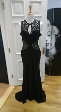 Evening dress with lace decor size 12-14