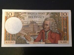 10 francs Voltaire 1967