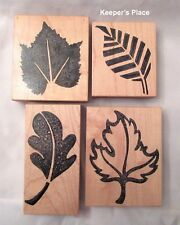 Lot 4 Stamps Fall Leaves Leaf Mounted Rubber Unbranded New