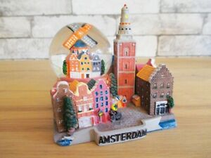 Snow Ball Amsterdam Holland Model & Snow Globe Souvenir Netherlands
