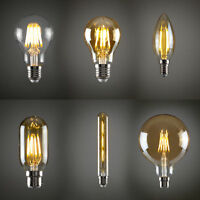 4/6W Vintage industrial Filament LED E27 Light Bulb Lamp Squirrel Cage Edison