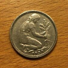 Geschenk zum 70. Geburtstag: 50- Pfennig-Stück G 1950 Bundesrepublik Deutschland