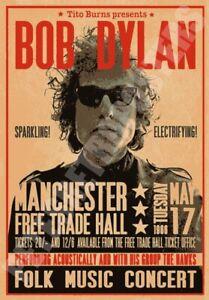 Vintage Bob Dylan Poster A5