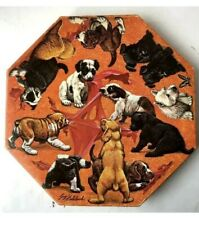 1968 Springbok Okta Puzzle Guy Coheleach Art Dog PUPPIES Octagon Complete 500