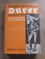 ALBRECHT DURER by Waetzoldt - Phaidon Verlag - 1st HCDJ - 1935- tipped-in plates
