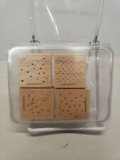 Stampin'Up Itty Bitty Backgrounds Wood Mounted Rubber Stamps(Set Of 4)