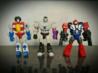 Transformers Mashers Megatron Starscream Heatwave Action Figure set Rare Hasbro
