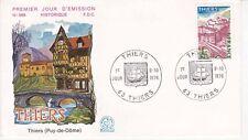Enveloppe 1er jour FDC n°988 - 1976 : Site de Thiers Puy de Dôme