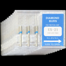 10 Boxes EX-21 MANI DIA-BURS Dental High Speed Handpiece Diamond Burs Standard
