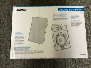 Bose Virtually Invisible 891 In-Wall Speaker Pair White Brand New Free Shipping!