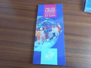ROYAL MINT 1995 £2 UNITED NATIONS COIN PACK