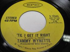 LOT OF 4 TAMMY WYNETTE 45's on EPIC 1970's