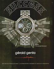 ▬► PUBLICITE ADVERTISING AD MONTRE WATCH Gérald GENTA Steel 1992
